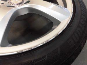八王子市 シルバー塗装ホイール傷修理