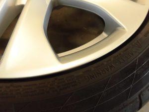 日野市 シルバー塗装ホイール傷修理