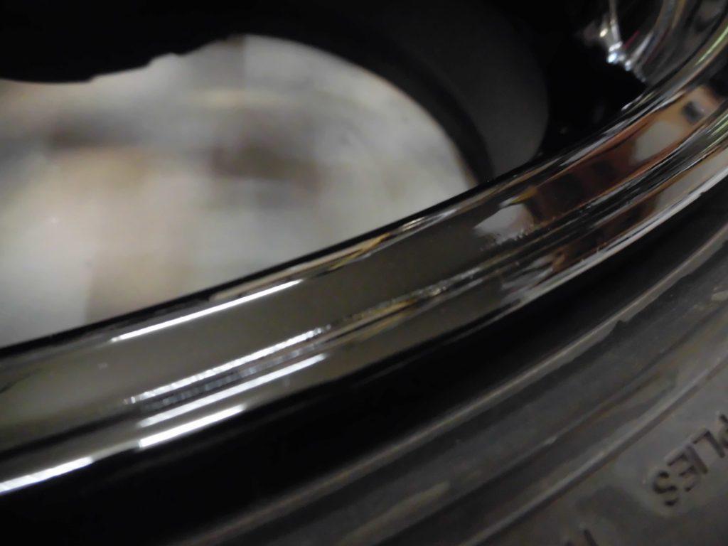 武蔵村山市 ニスモブラック塗装ホイール傷修理