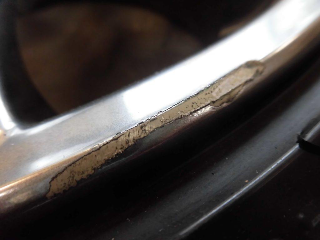 青梅市 ハイパーシルバーホイール傷修理