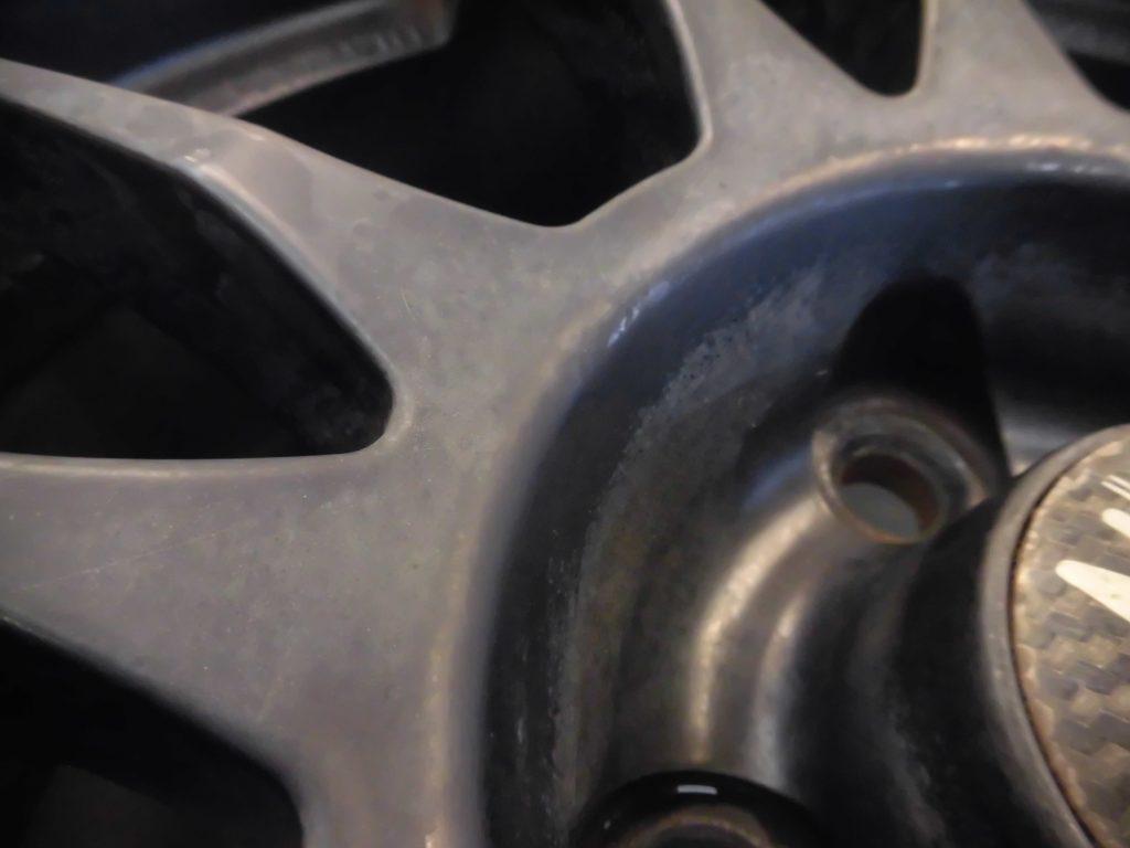 立川市 マットブラックホイール傷修理 再塗装