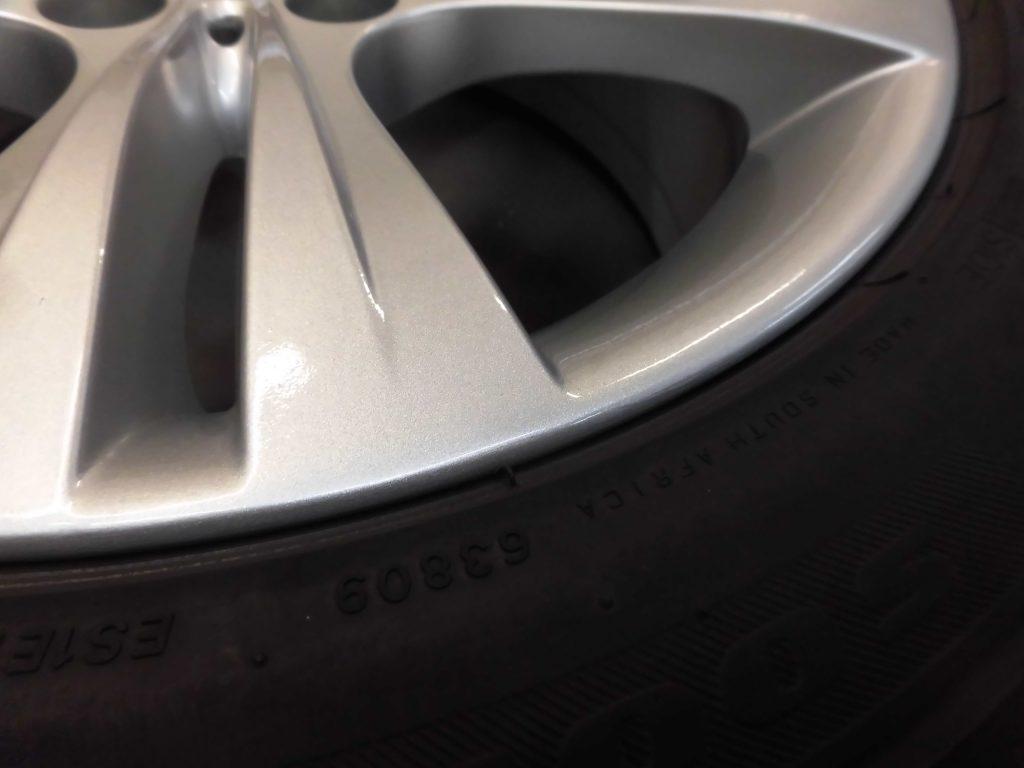 多摩市 シルバー塗装ホイール傷修理