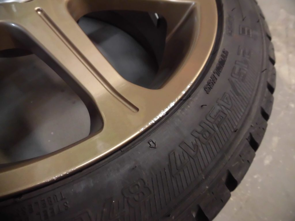 西多摩郡瑞穂町 ブロンズ塗装ホイール傷修理