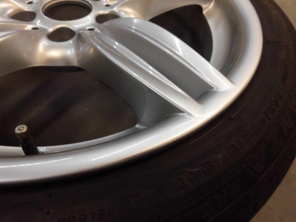 立川市 シルバー塗装ホイール傷修理