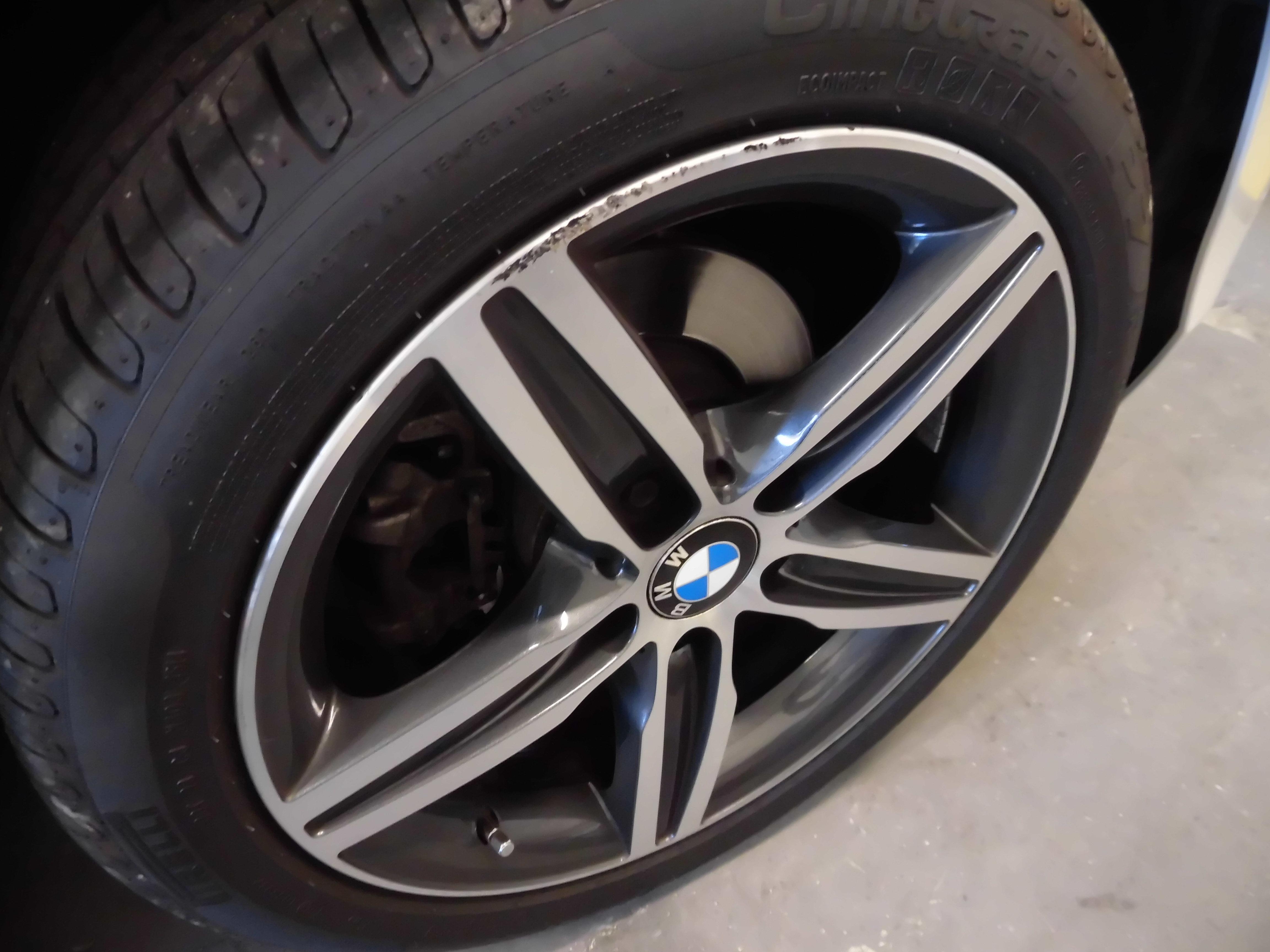 昭島市のお客様 BMWポリッシュホイールリム傷修理 | ホイール ...