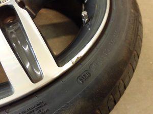 昭島市 BMWポリッシュアルミホイール傷修理